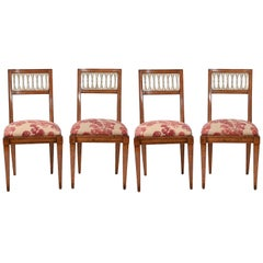 Vintage French Side Chairs, Set 4
