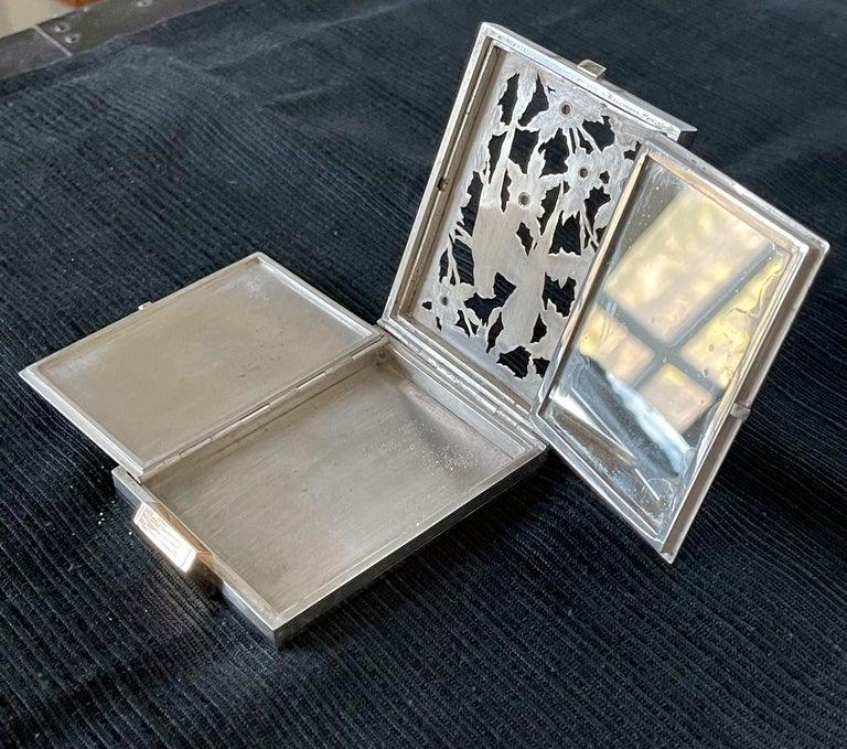 Vintage French Silver Compact Case by Boucheron, Paris For Sale 6