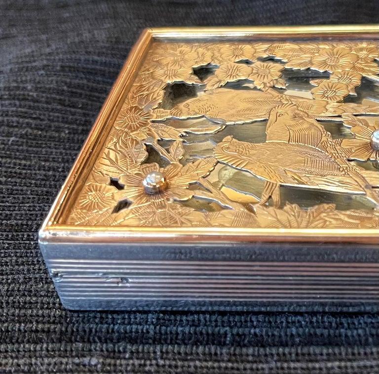 Vintage French Silver Compact Case by Boucheron, Paris For Sale 8