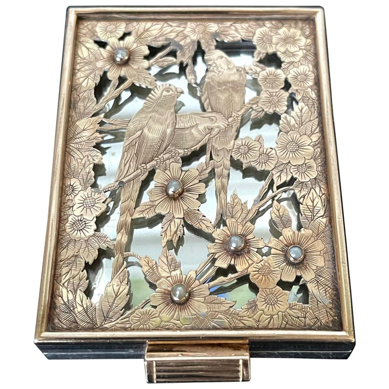 Vintage French Silver Compact Case by Boucheron, Paris For Sale