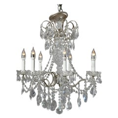 Vintage French Silver Gilt and Cut Crystal Chandelier, 20th Century