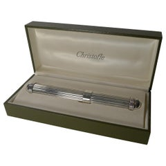 Vintage French Silver Plated Cigar Case, Christofle, Paris