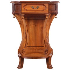 Vintage French Solid Walnut Console Table