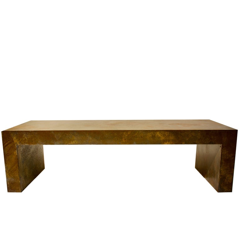 Vintage French Steel Coffee Table