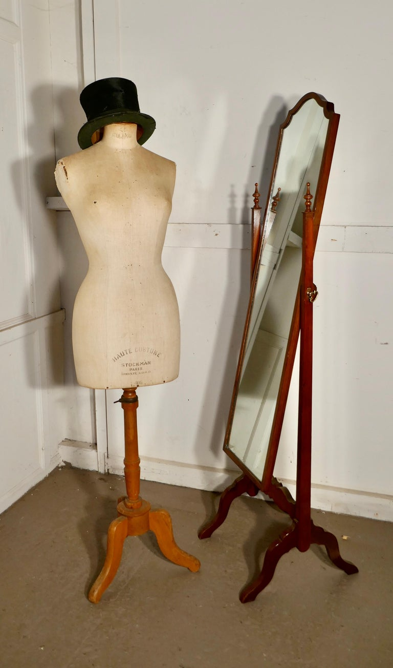 Women's Vintage French Stockman Mannequin, English Size 14 For Sale