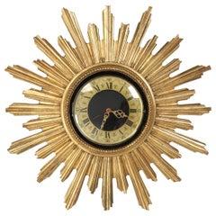 Vintage French Sunburst Clock