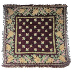 Vintage French Wall Tapestry or Rug