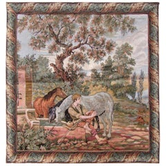Vintage French Tapestry, 1940s, 1Q0156