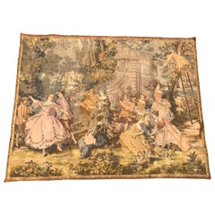 Vintage French Tapestry Aubusson Style