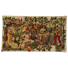 Vintage French Tapestry or Wall Hanging by Jean-Claude Bissery, Signed