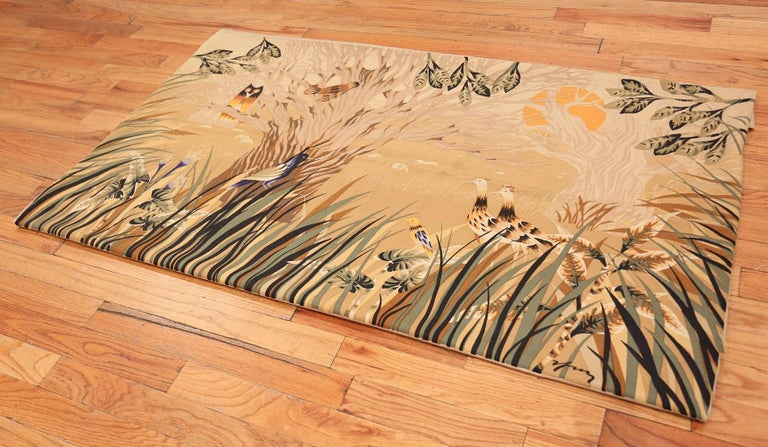 Vintage French Tapestry Rug, Origin: France, Circa: Mid 20th Century. Size: 6 ft x 3 ft 6 in (1.83 m x 1.07 m)