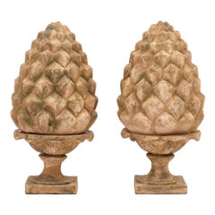 Vintage French Terracotta Pine Cones
