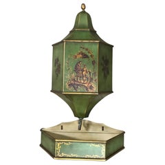 Vintage French Tole Chinoiserie Lavabo