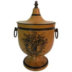 Vintage French Tole Lidded Urn