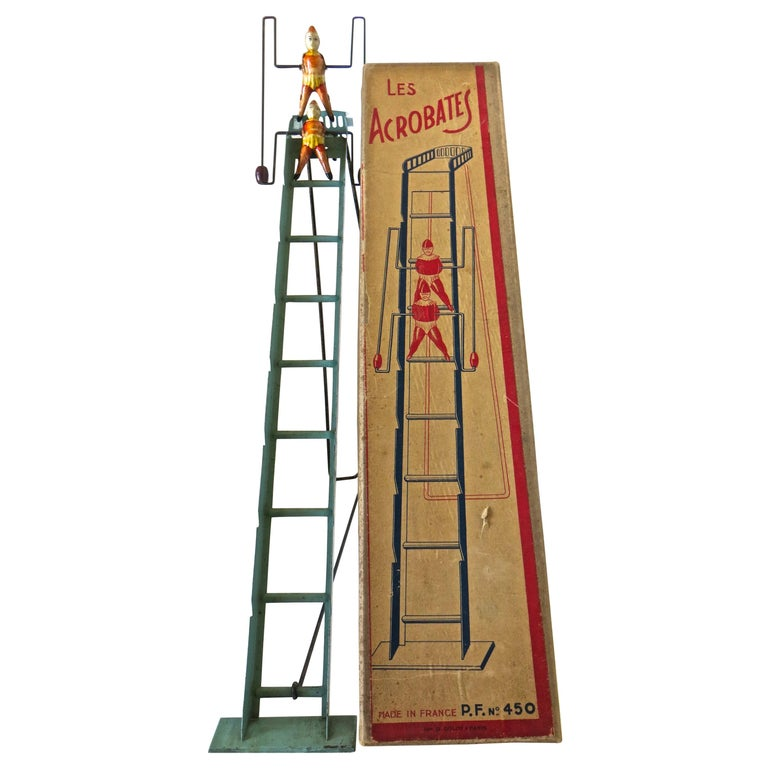 """Vintage French Toy """"Les Acrobates"""", circa 1920 For Sale"""