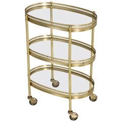 Vintage French Très Petite Tea Cart or Bar Cart