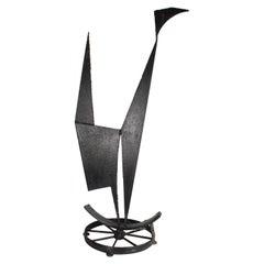 Vintage French Vernacular Metal Sculpture Langudoc Region