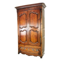 Vintage French Walnut Armoire