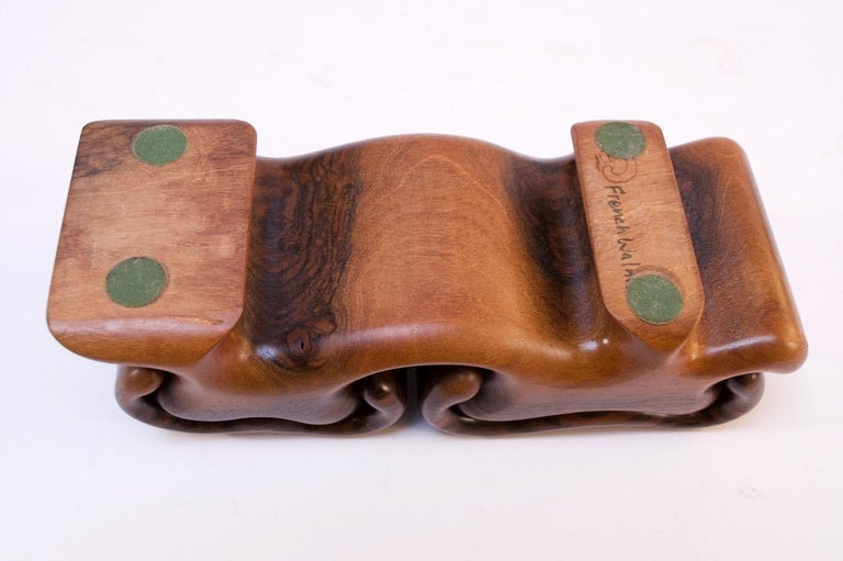 Vintage French Walnut 'Mushroom' Jewelry Puzzle Box by Fred Buss For Sale 6