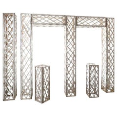 Vintage French White Painted Trellis