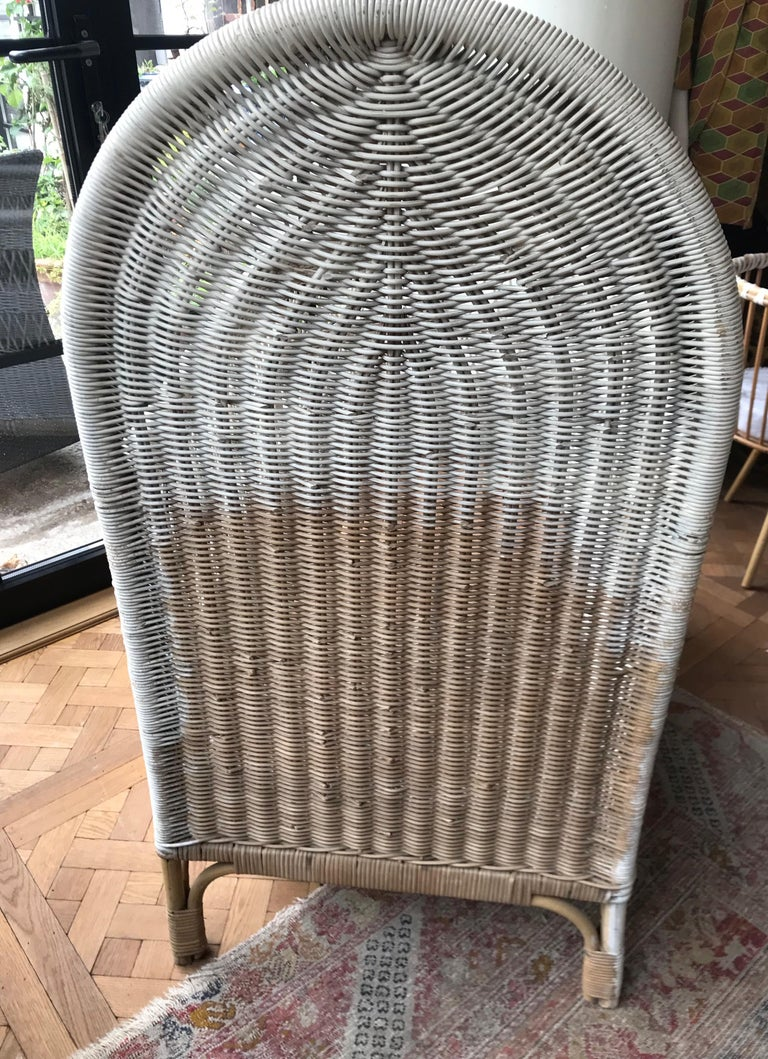 Vintage French Wicker Baby Bed/ Crib For Sale 3