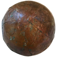 Vintage French Wood and Copper Ball