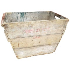 Vintage French Wooden Grape Box from the Champagne Region