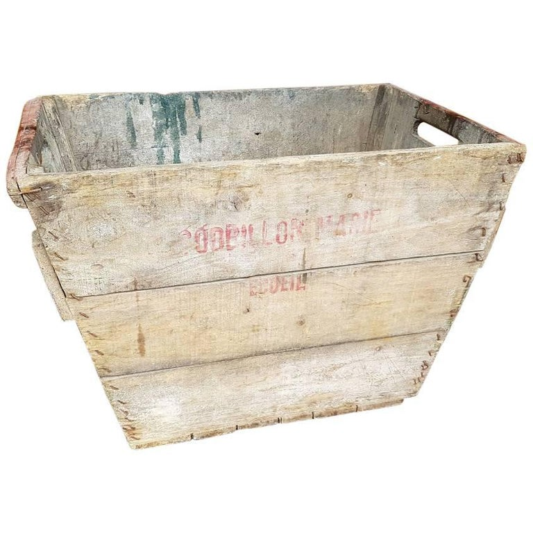 Champagne Region Interior Design Traditional Rustic: Vintage French Wooden Grape Box From The Champagne Region