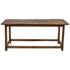 Vintage French Wooden Kitchen Island Table