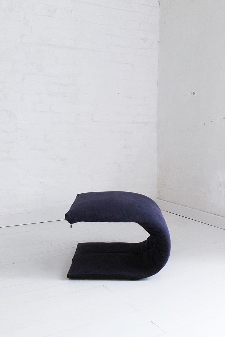 Vintage French Zen Chair with Ottoman by Claude Brisson for Ligne Roset, 1980s For Sale 7