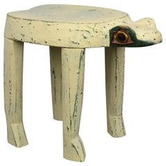 Vintage Frog Side Table or Child's Stool