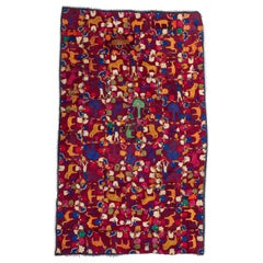 Vintage Fully Embroidered Textile, Rabari of Western India, Mid-20th Century