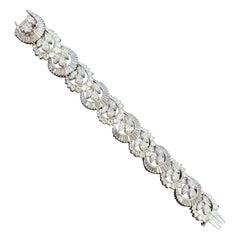Vintage Fully Signed Elwood Van Clief Diamond Flexible Link Bracelet