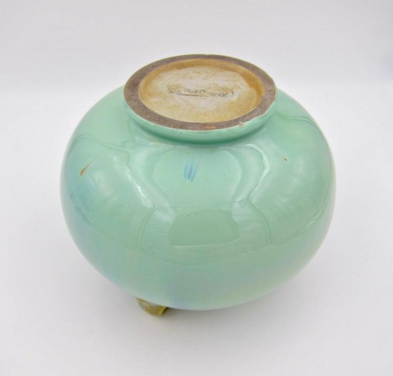Vintage Fulper Pottery Three Handled Vase with a Flambé Glaze For Sale 3