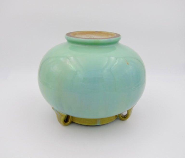 Vintage Fulper Pottery Three Handled Vase with a Flambé Glaze For Sale 4
