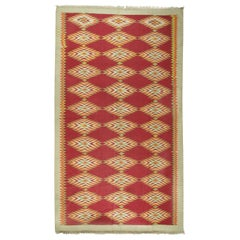 Vintage Gallery Size Flat-Weave Cotton Dhurrie, circa 1920, 8'10 x 15'2