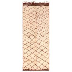 Vintage Gallery Size Moroccan Berber Rug