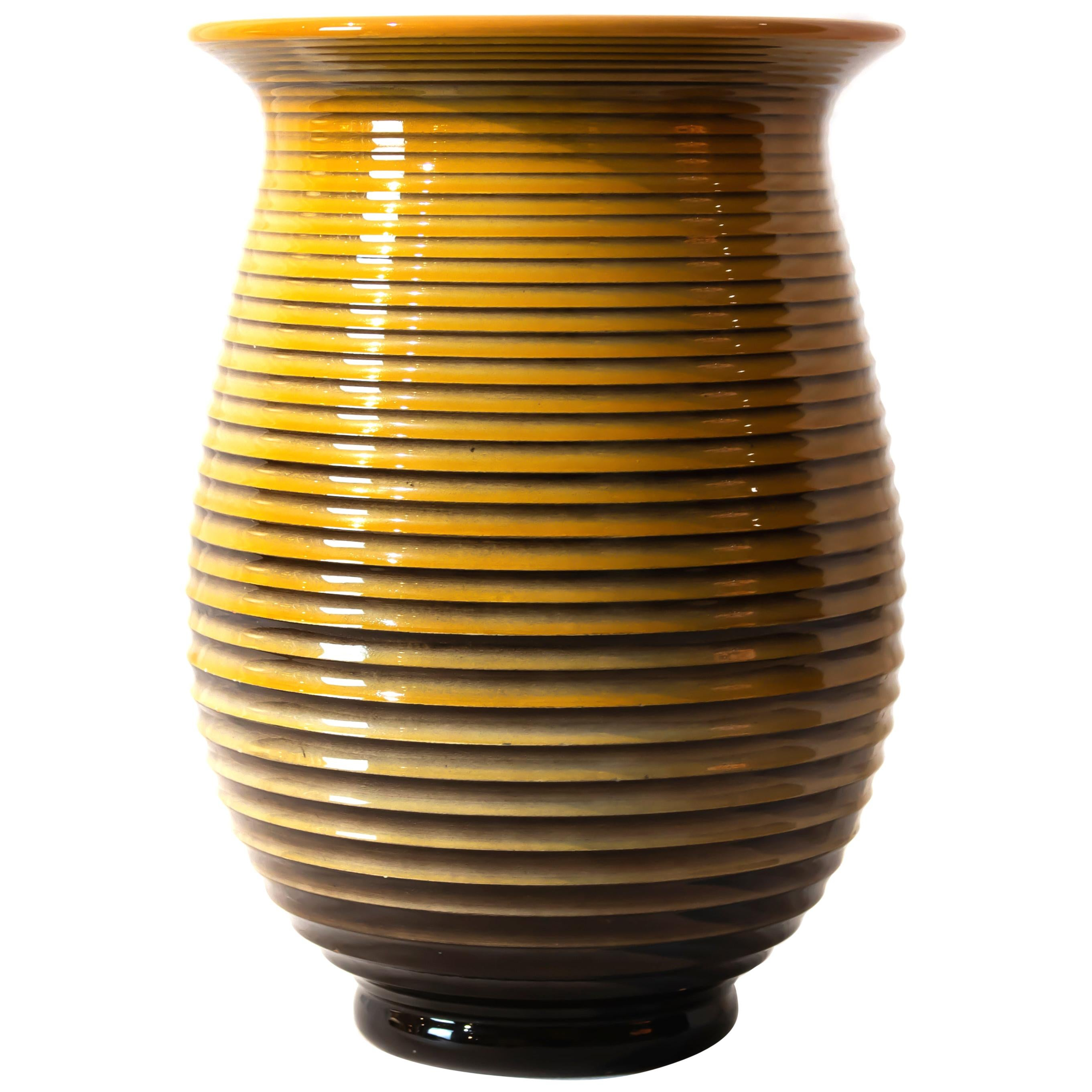 Vintage Galvani Ceramic Vase, Italy, 1970s