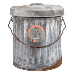 "Vintage Galvanized Steel ""Boyco"" Waste Can, circa 1940"