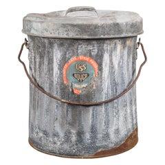 "Vintage Galvanized Steel ""Boyco"" Waste Can, circa 1940"