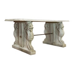 Vintage Garden Table, Italian, Reconstituted Stone, Mid-20th Century, circa 1960