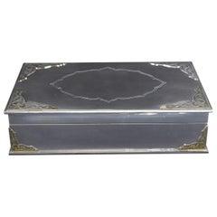 Vintage Garrard & Co. 112 Regent Street Lined Sterling Silver Jewelry Box