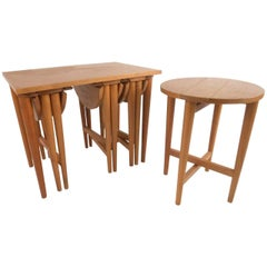Vintage Gateleg Nesting Tables after Carlo Jensen