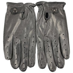 Vintage GATES Size S Black Perforated Leather Biker Gloves