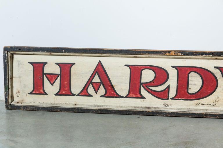 Folk Art Vintage General Store Hardware Sign For Sale