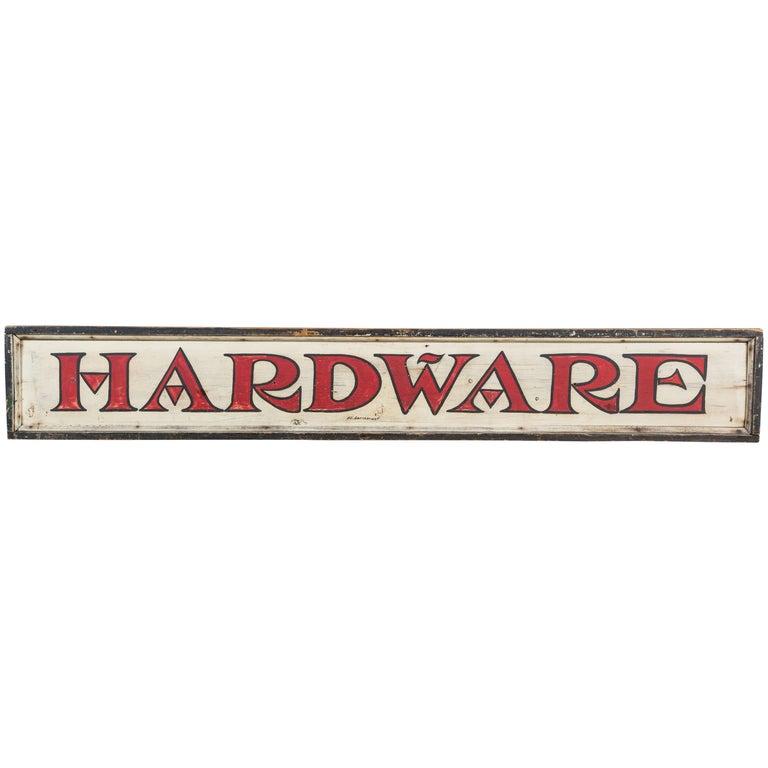 Vintage General Store Hardware Sign For Sale
