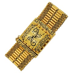 Vintage Geneva Yellow Gold Covered Watch Bracelet