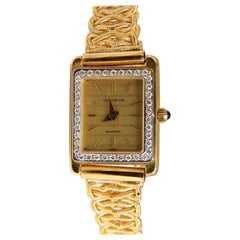 Vintage Geneve Swiss Quartz .36 Carat Diamonds Watch