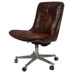 """Vin̈tage """"Gentilina"""" Swivel Desk Chair by Strassle of Switzerland, 1960s"""