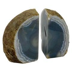 Vintage Geode Quartz Bookends